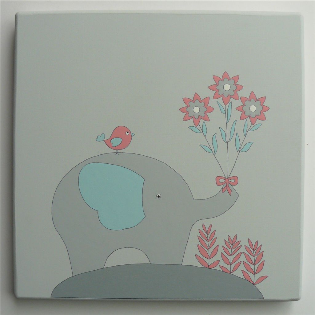 WPB ellie with flowers grey mint coral