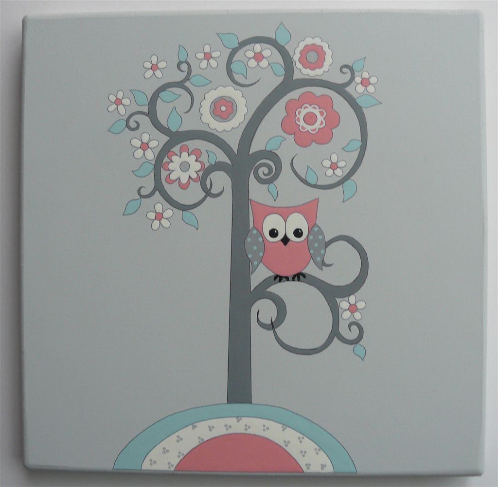 WPB Owl coral grey tree
