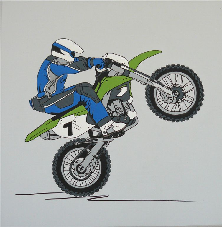 Motor cross bike green