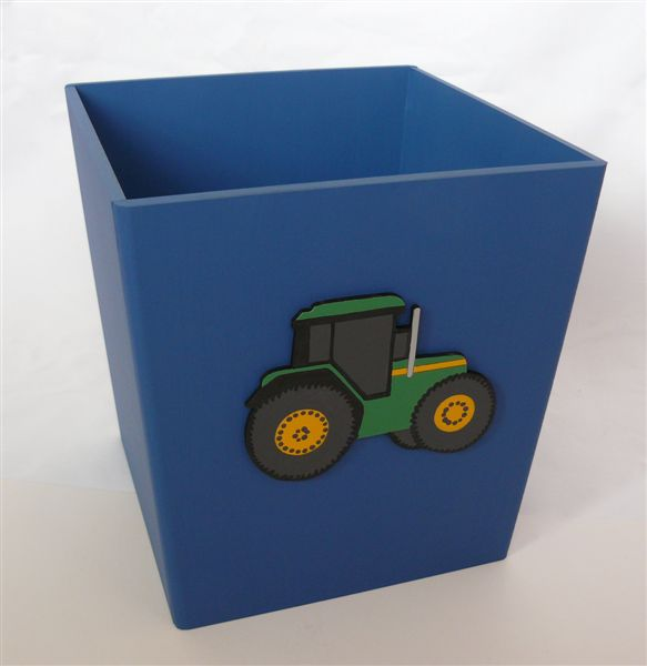 Navy dustbin with John Deere