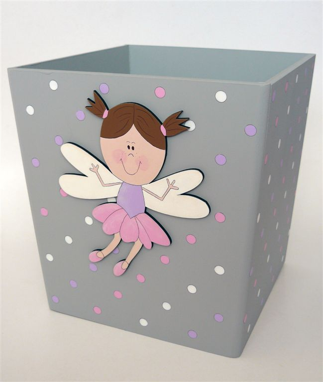 Grey dustbin with fairy