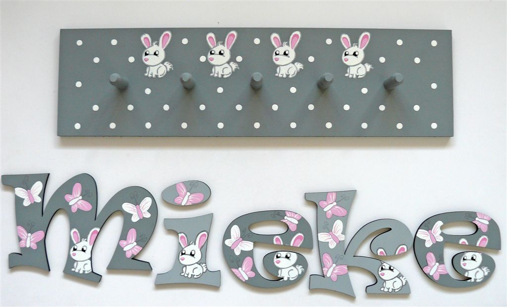 Mieke grey and bunnies set