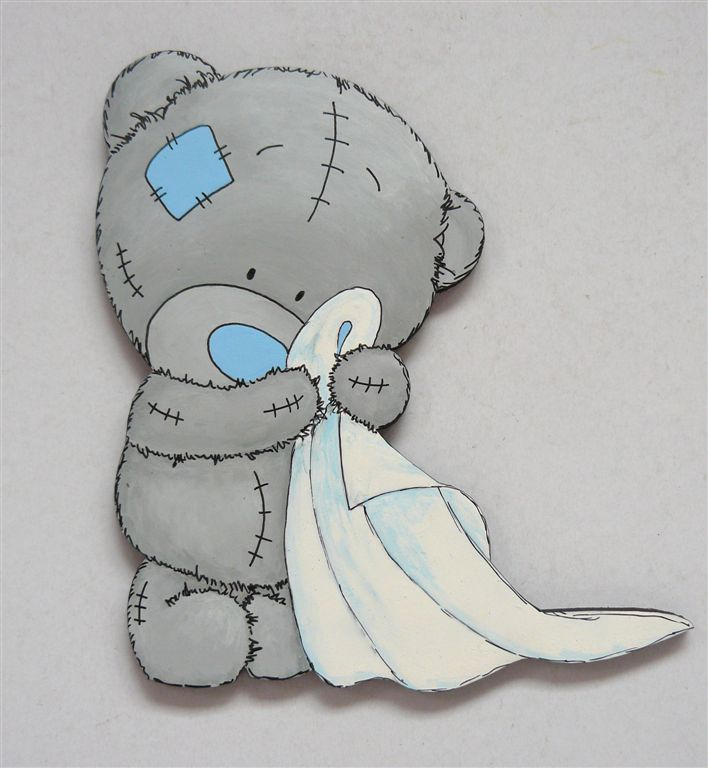 Tatty Teddie with blankie