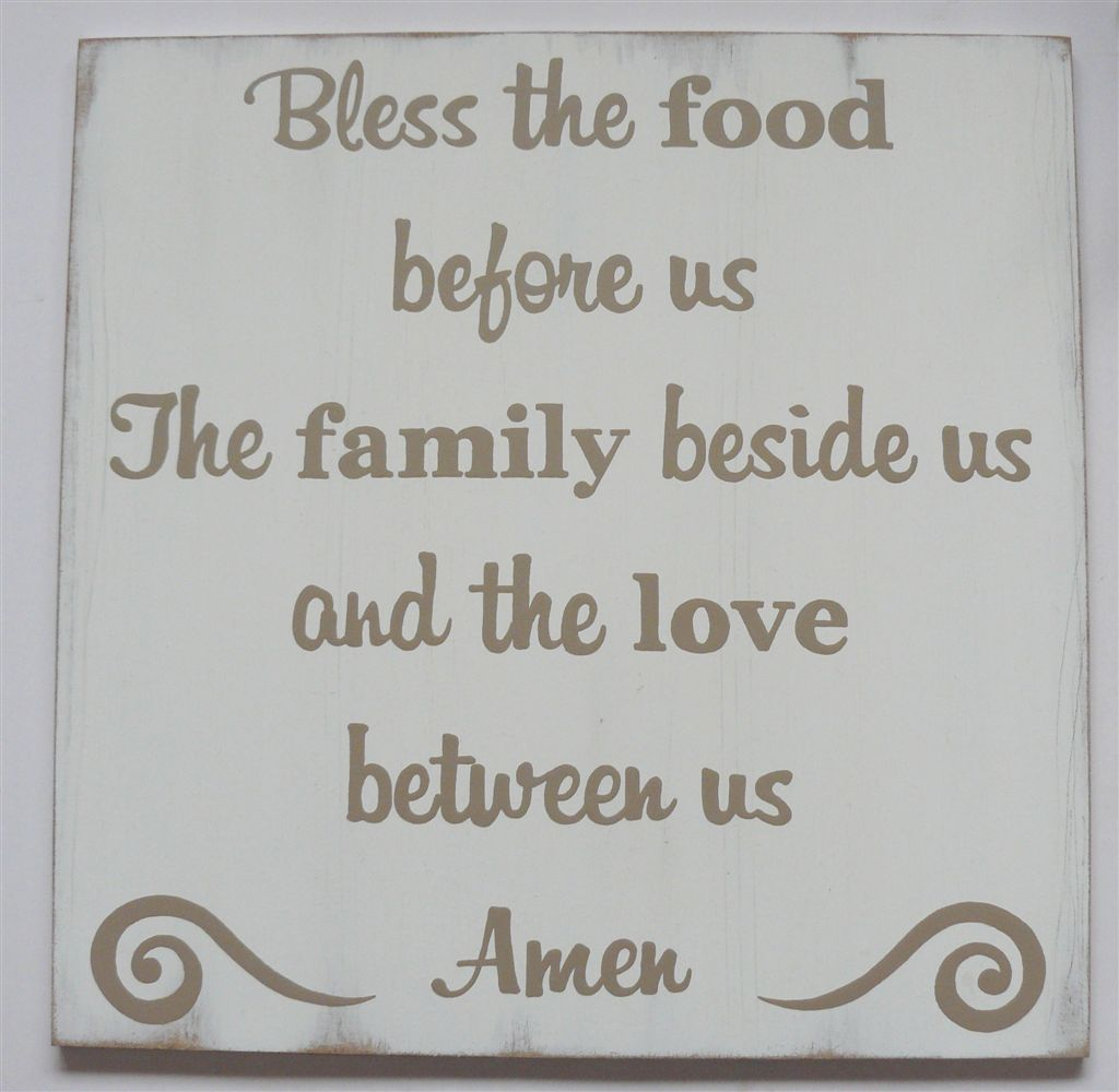 Bless this food prayer on wood