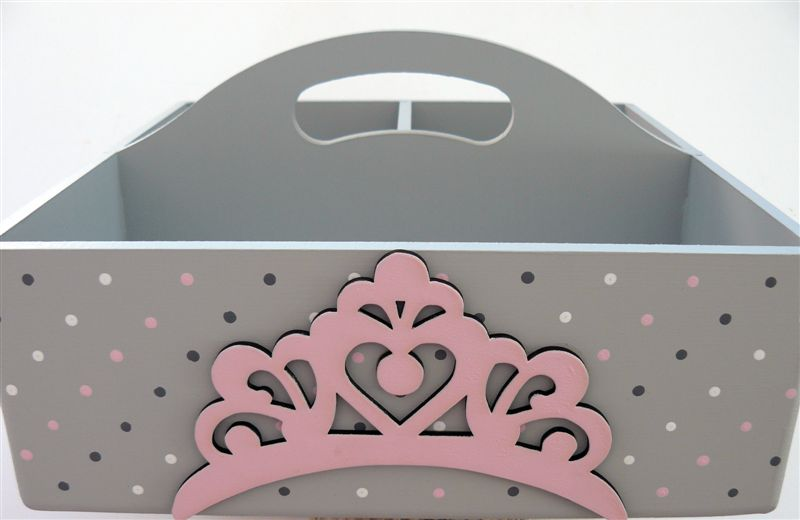 Caddy grey base with pink crown