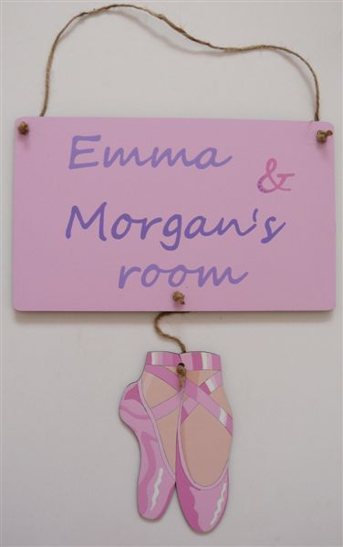 Name plaque with ballet shoes