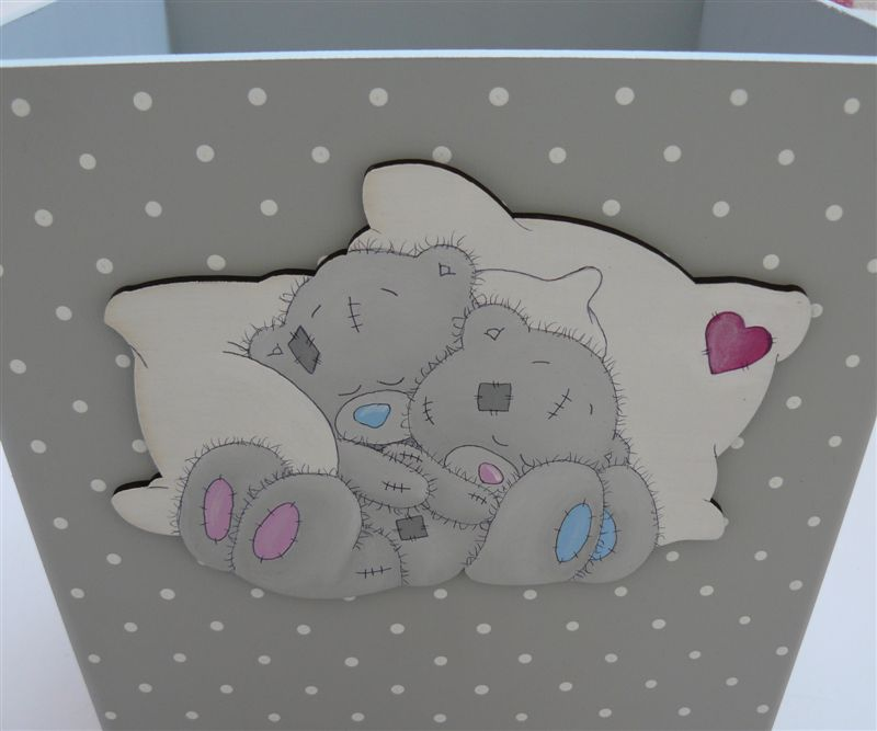 Grey base with sleeping teddies