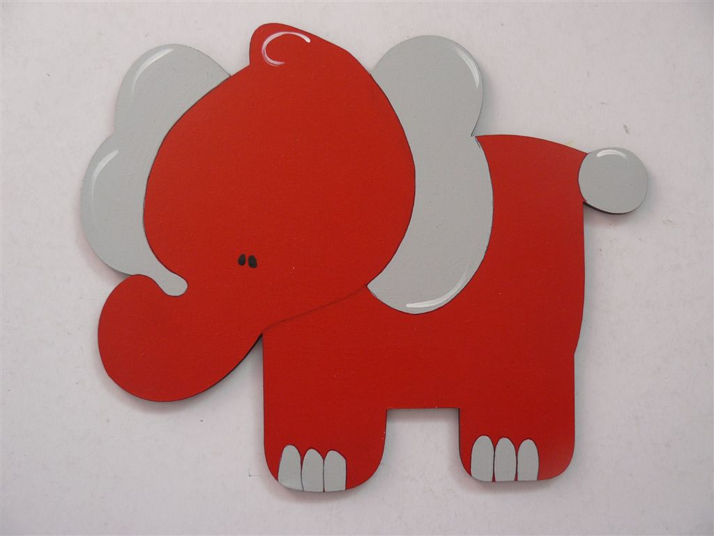 Elephant in reds