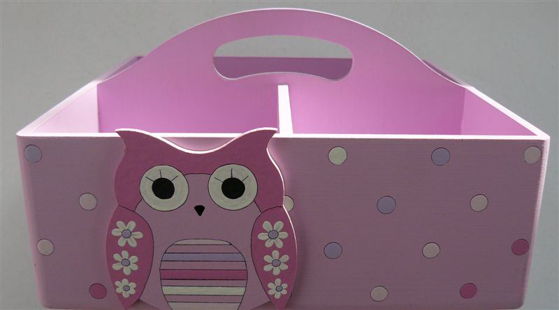 Pink with pink owl cutout