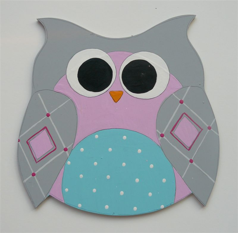 Pink and Grey Owl