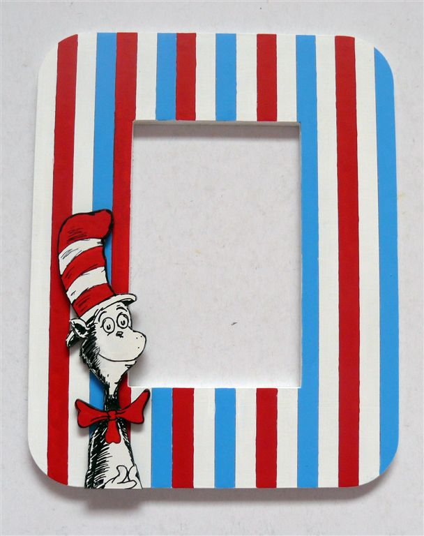 Dr Seuss with stripes