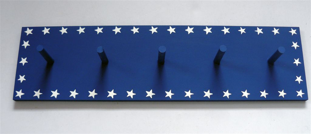 Navy coatrack with stars