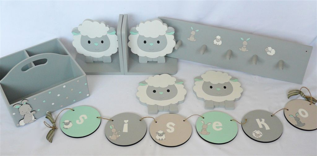 Farm and sheep set