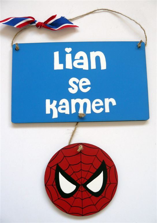 Spiderman name plaque