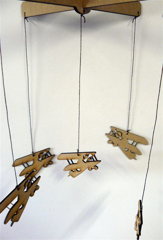 Vintage planes on a chain