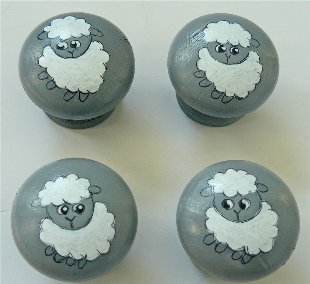Baby sheep on grey base
