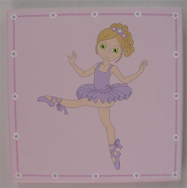 Ballerina with purple tutu