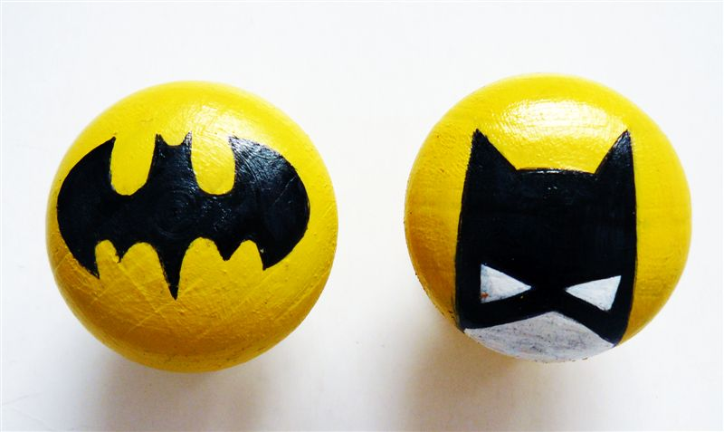 Batman in yellow and black