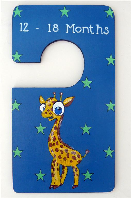 Closet Divider blue with giraffe