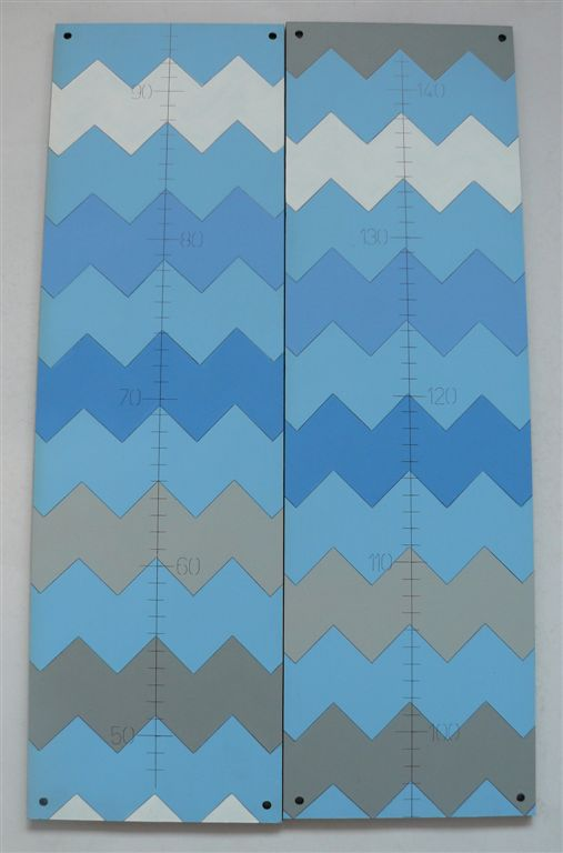 Chevron blue grey growth chart
