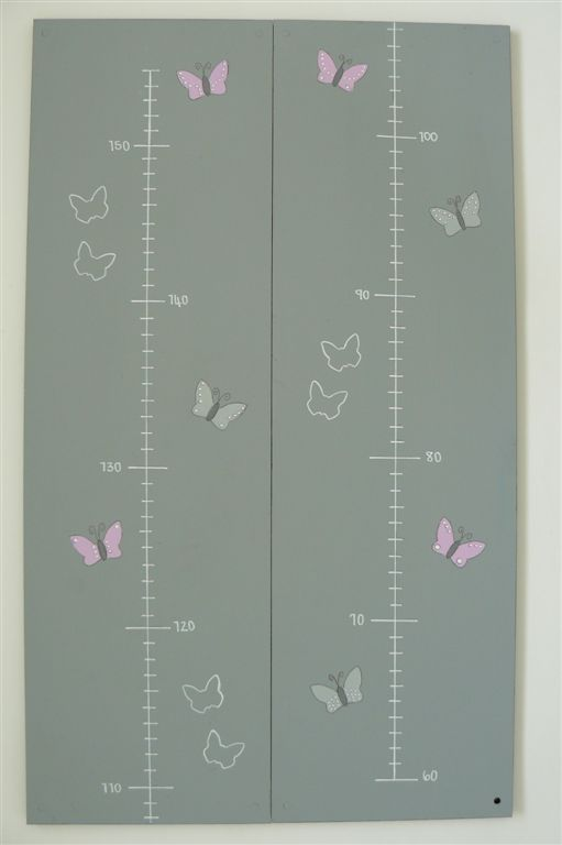 Butterflies on a grey base growth chart