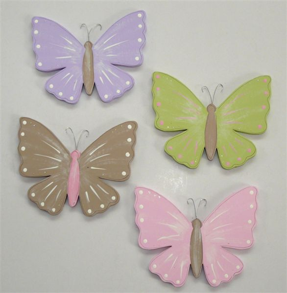 Butterflies in various colours