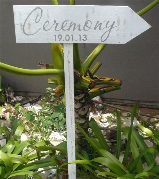 Ceremony Direction plaque