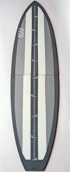 Charcoal, grey and white surfboard