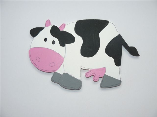Cute Cow cutout - Click Image to Close