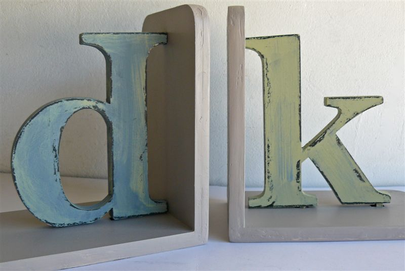 Distressed letters dk