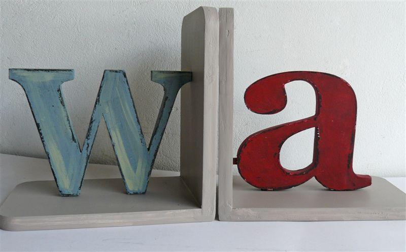 Distressed letters wa