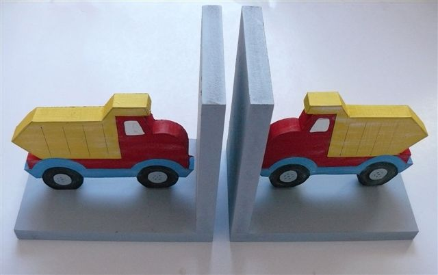 Bookends with truck