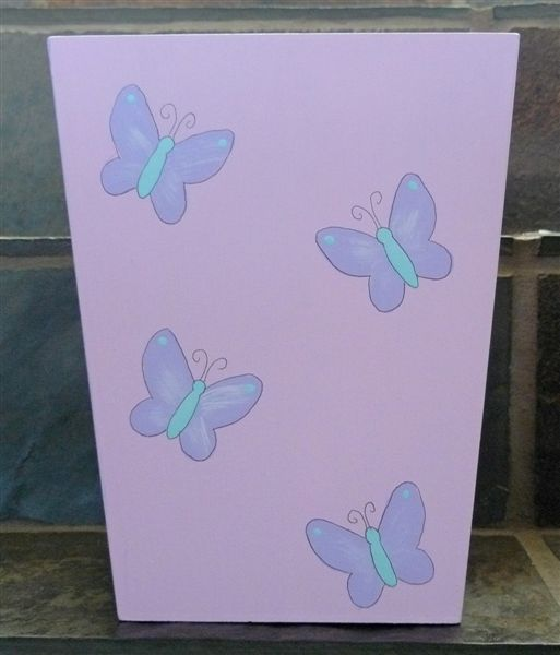 Dustbin with butterflies