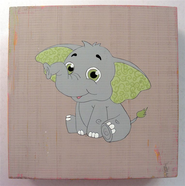 Baby Elephant Green ears