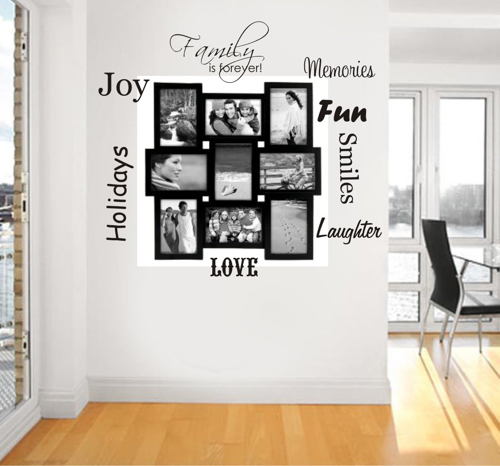 Family is forever picture sayings wall - Click Image to Close