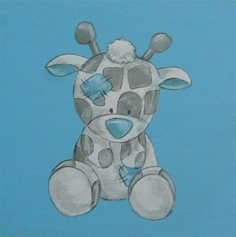 WPB baby giraffe on light blue base