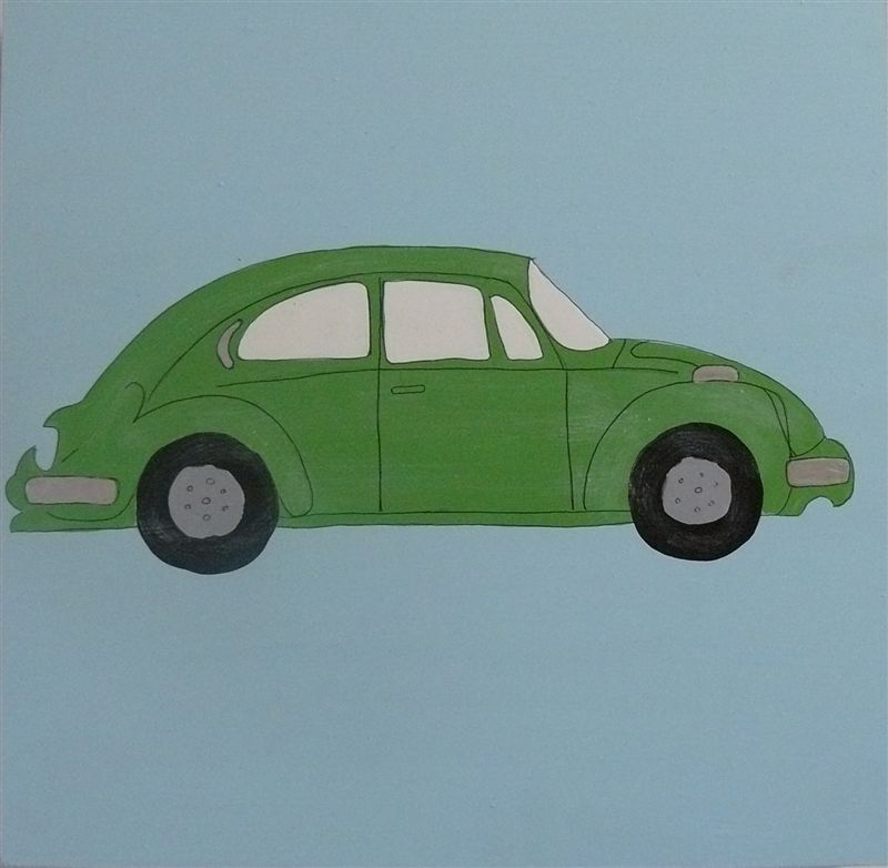 WPB Green VW beetle