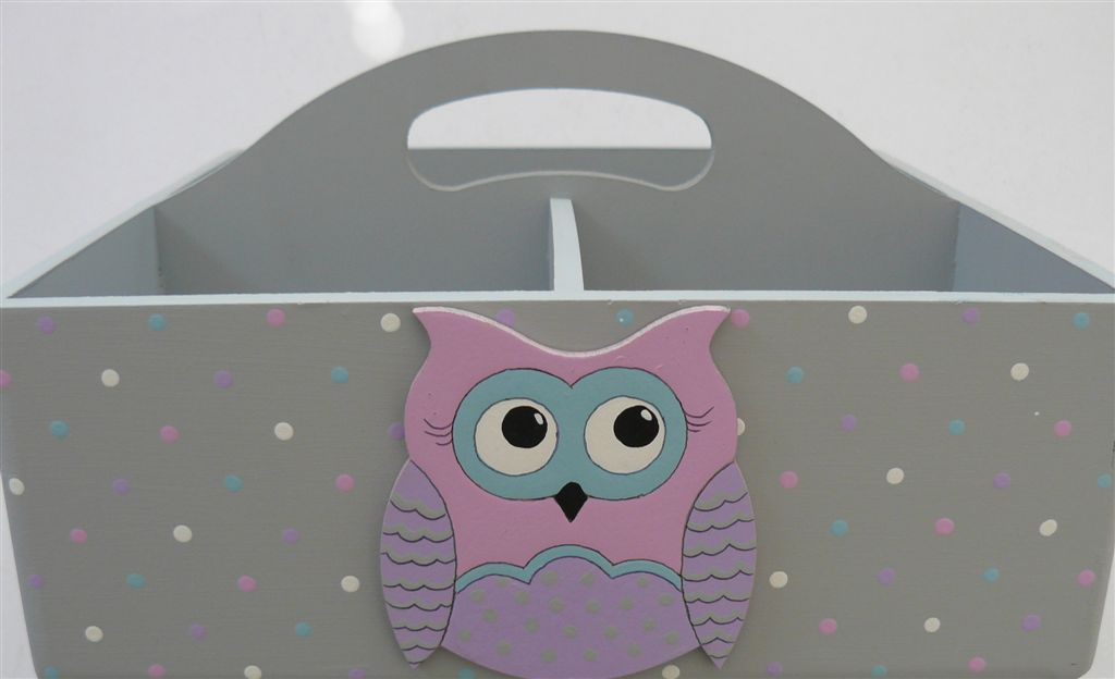 Caddy Grey base Pink owl