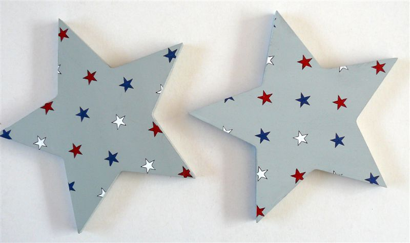 Grey star tiebacks