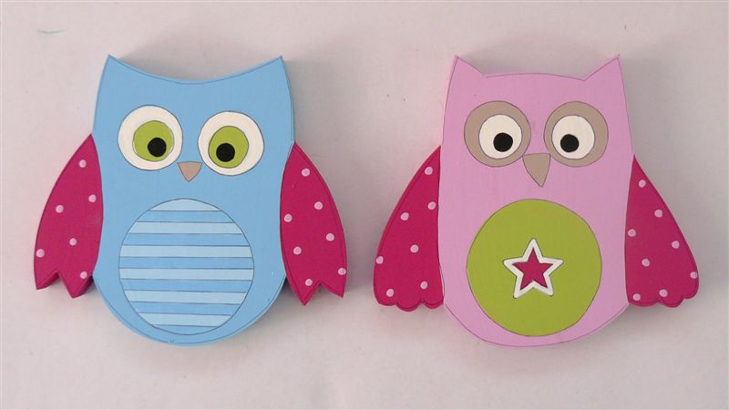 Happy Owls Tiebacks