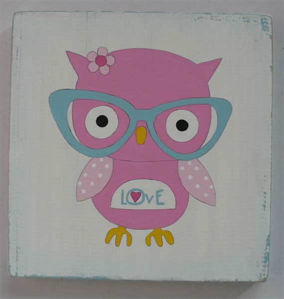 Hipster owl with glasses