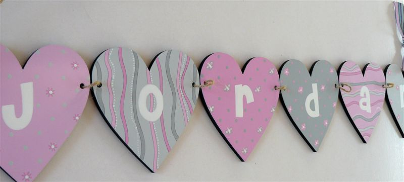 Jordan in pinks and grey bunting