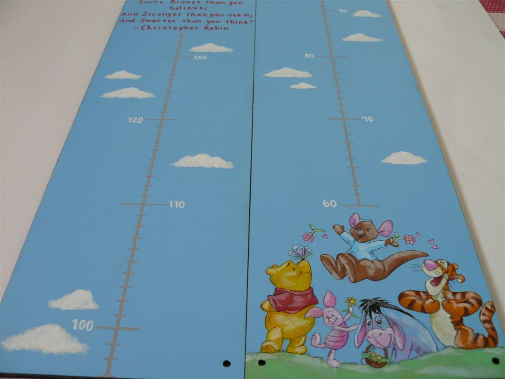 Light blue base with Winnie the Pooh