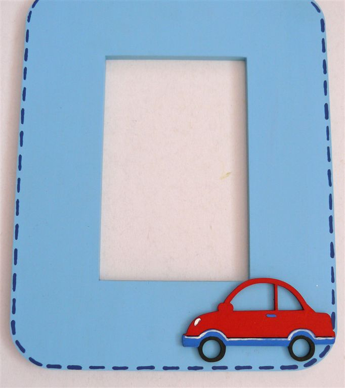 Light blue with red car