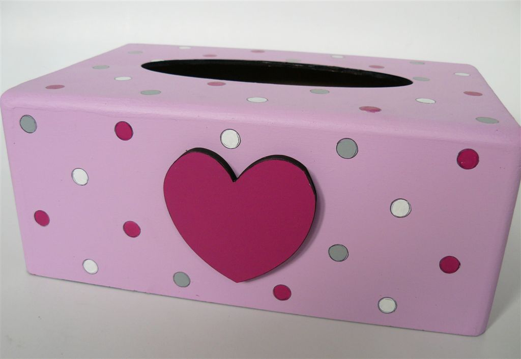 Light pink with polkas and heart