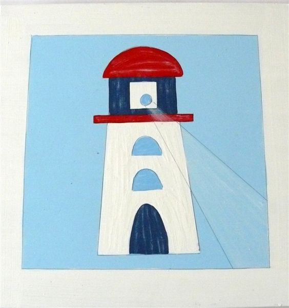 Lighthouse on Blue