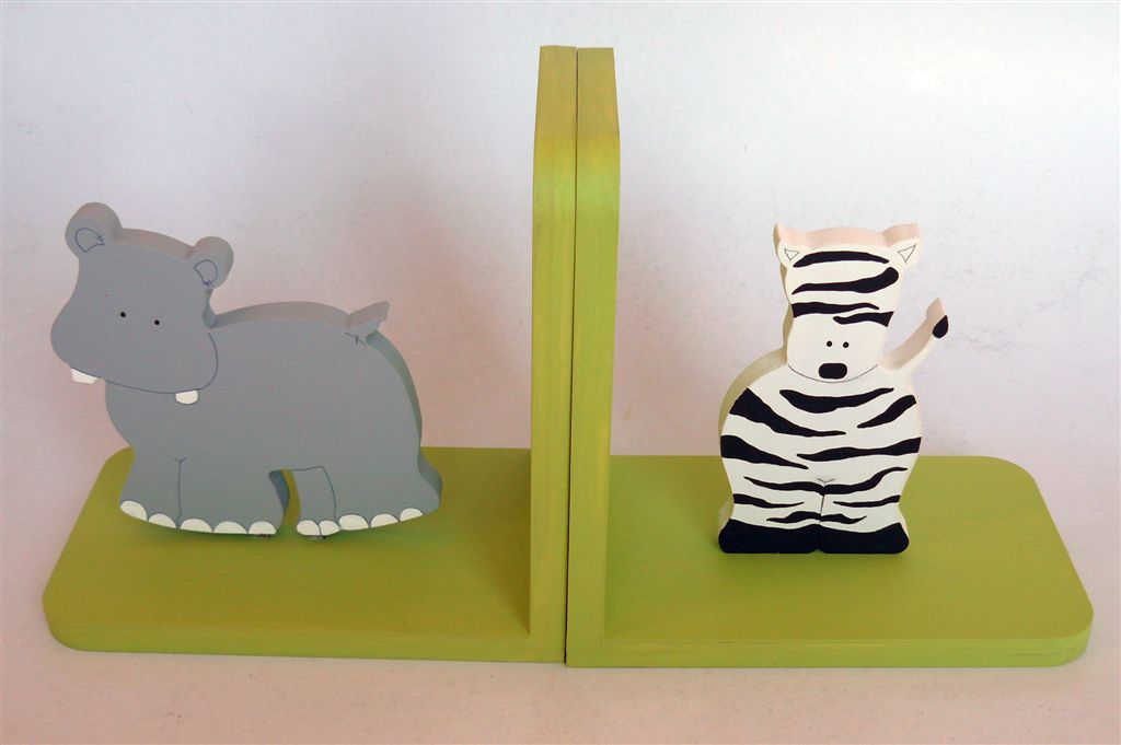 Lime base with zebra and hippo