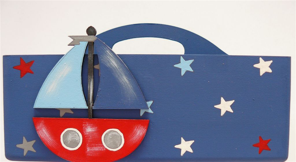 Navy Caddie with stars and boat