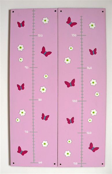 Pink base with butterflies and daisies