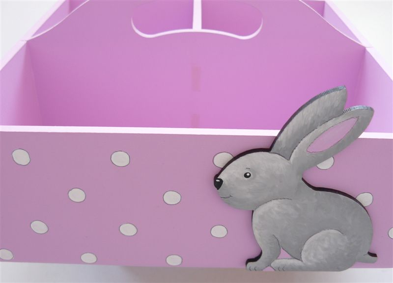Pink caddie with grey bunny